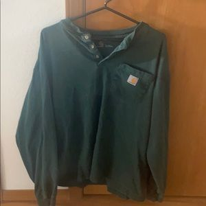 Carthartt size large green shirt